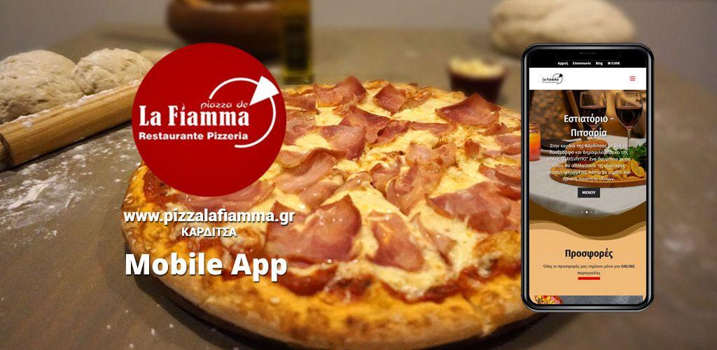Mobile App – La Fiamma Πιτσαρία Καρδίτσα